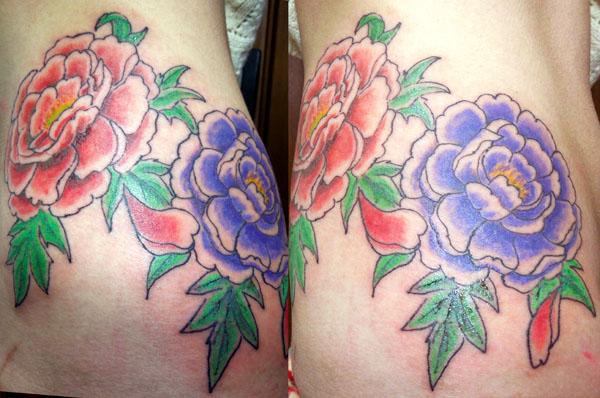 牡丹の刺青