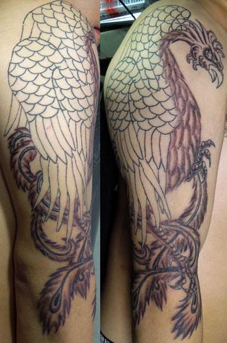 鳳凰の刺青