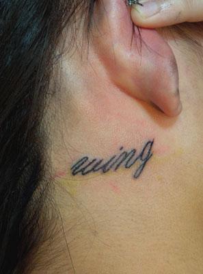 wingのタトゥー