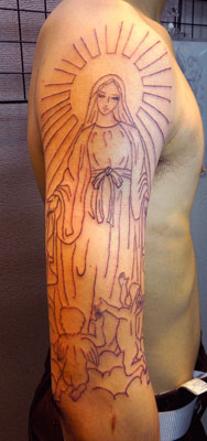 無原罪の聖母マリアのタトゥー