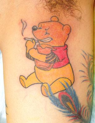 熊のプーさんの隠し彫り