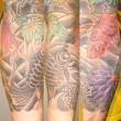 金魚と菊の刺青 左カイナ九部