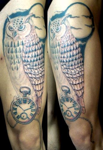 梟のタトゥー