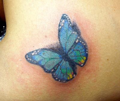 アゲハ蝶の3Dタトゥー