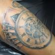 懐中時計とトランプのタトゥー