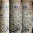 ライオンの親子のタトゥー