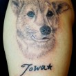 愛犬のポートレイトタトゥー
